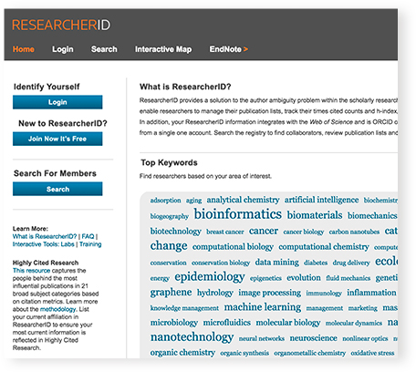 EndNote + ResearcherID